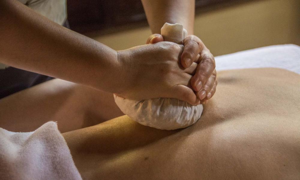 Hot Herbal Ball Massage
